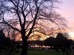 VILLA LEONHART-Eventlocation-Park Sonnenuntergang
