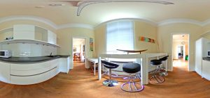 360-Grad-Aufnahme, VILLA LEONHART Eventlocation, Kitchen Club