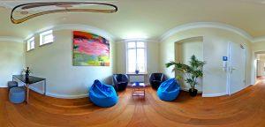 360-Grad-Aufnahme, VILLA LEONHART Eventlocation, Relax Raum