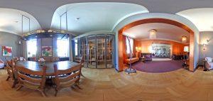 360-Grad-Aufnahme, VILLA LEONHART Eventlocation, Tafelrunde Zimmer