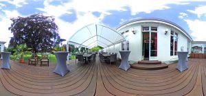 360-Grad-Aufnahme, VILLA LEONHART Eventlocation, Terrasse