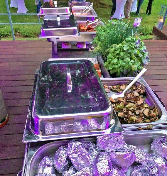 VILLA LEONHART Eventlocation, Grillbuffet Terrasse