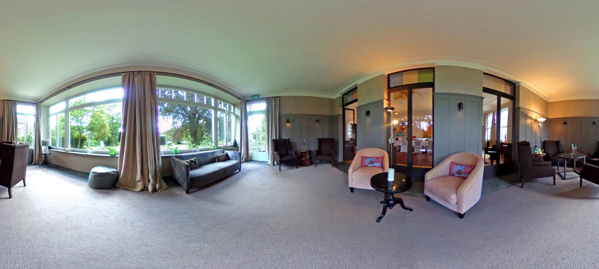 360 Grad Aufnahme Villa Leonhart Eventlocation