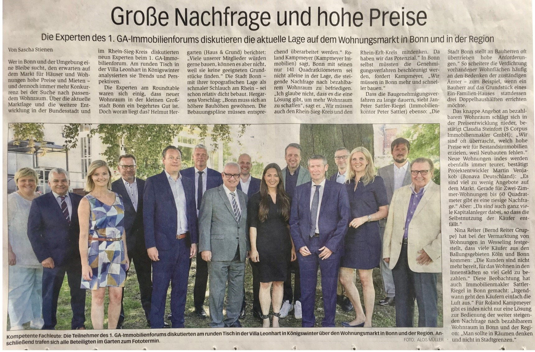 Artikel Bonner Generalanzeiger, 06.09.2019