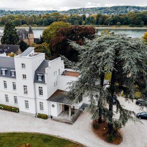 Drohnenansicht der VILLA LEONHART in Bonn-Königswinter