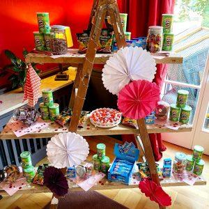 Candy Bar einer Hochzeitsfeier begeistert kleine Gäste